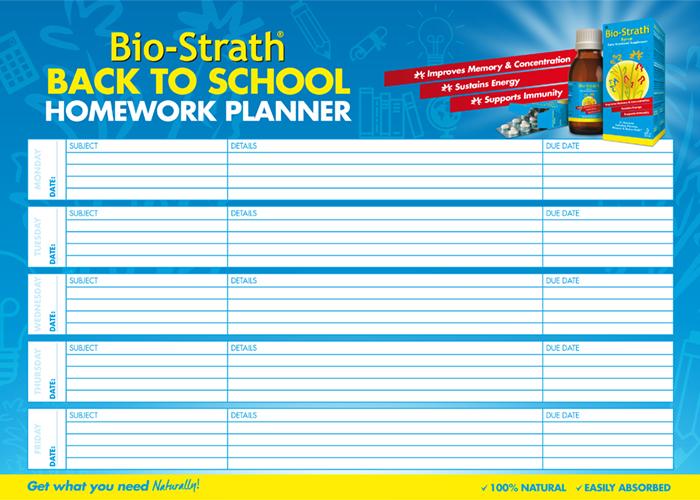 Bio-Strath Homework Planner